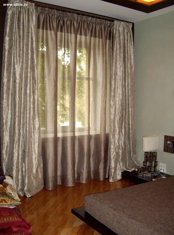 Легкие шторы для спальни в